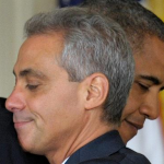 Rahm Emmanuel and friend