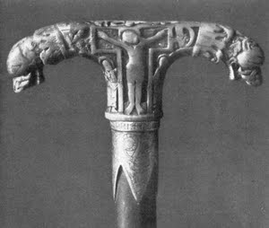 Tau shaped serpent crozier from Koeln, Germany, circa 1000.