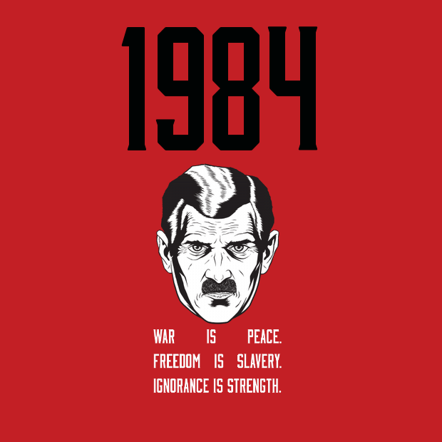 the totalitarian government fear in the novel 1984 by george orwell