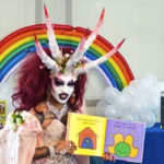 Satanic-looking Drag Queen Reads to Children at Library Named after Michelle Obama